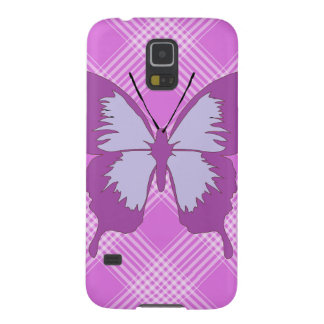 Awareness Butterfly on Plaid Case For Galaxy S5