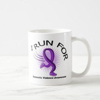 Awareness I Run For Domestic Violence Coffee Mug