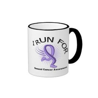 Awareness I Run For General Cancer Ringer Coffee Mug