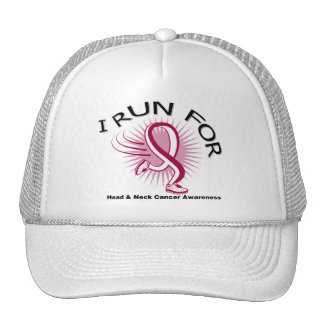 Awareness I Run For Head and Neck Cancer Mesh Hat