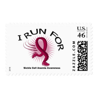 Awareness I Run For Sickle Cell Anemia Stamps