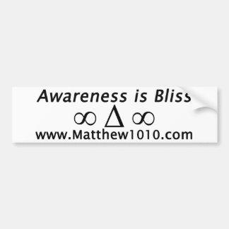 Awareness is Bliss Bumper sticker
