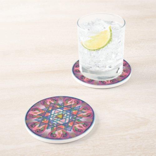 Awareness Mandala Coaster