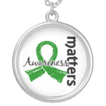 Awareness Matters 7 Bile Duct Cancer Silver Plated Necklace