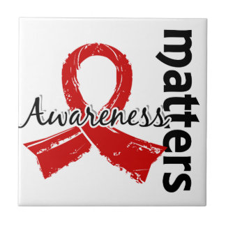 Awareness Matters 7 Blood Cancer Small Square Tile