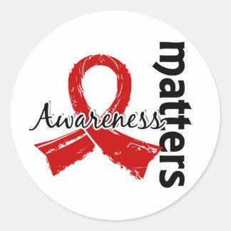 Awareness Matters 7 Blood Cancer Classic Round Sticker