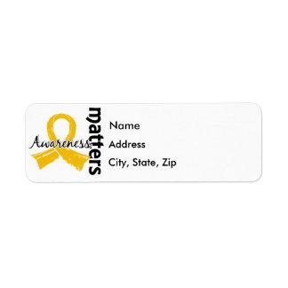 Awareness Matters 7 Childhood Cancer Label