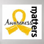 Awareness Matters 7 Childhood Cancer Poster
