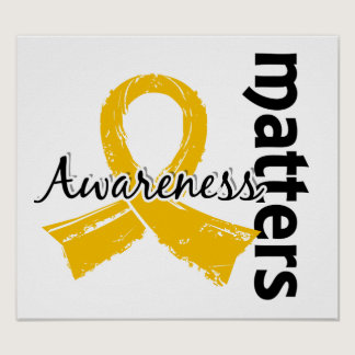 Awareness Matters 7 Childhood Cancer Poster