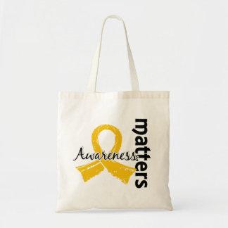 Awareness Matters 7 Childhood Cancer Tote Bag