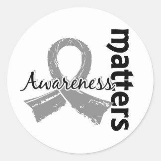 Awareness Matters 7 Juvenile Diabetes Classic Round Sticker