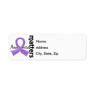 Awareness Matters 7 Lymphoma (Hodgkin's) Label