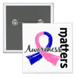 Awareness Matters 7 Male Breast Cancer Pinback Button