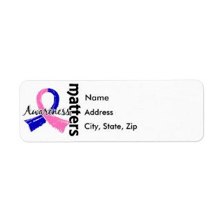 Awareness Matters 7 Male Breast Cancer Return Address Label