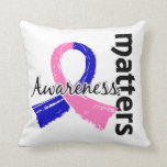 Awareness Matters 7 Male Breast Cancer Throw Pillows