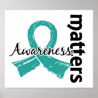 Awareness Matters 7 Ovarian Cancer Poster