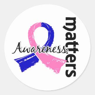 Awareness Matters 7 SIDS Classic Round Sticker