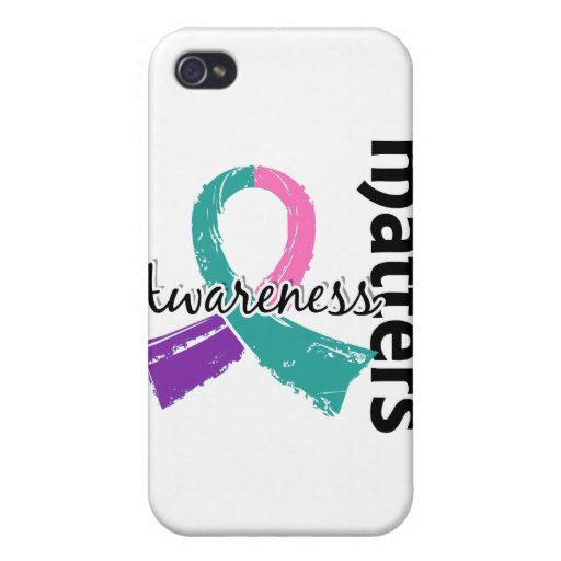 Awareness Matters 7 Thyroid Cancer iPhone 4/4S Case