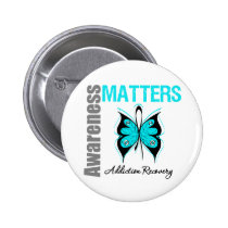 Awareness Matters Butterfly Addiction Recovery 2 Inch Round Button
