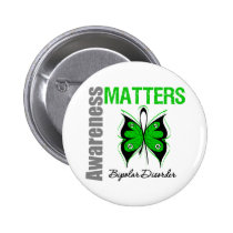 Awareness Matters Butterfly Bipolar Disorder 2 Inch Round Button