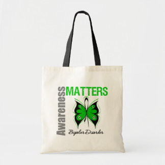 Awareness Matters Butterfly Bipolar Disorder Budget Tote Bag
