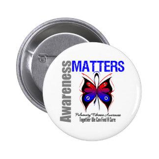 Awareness Matters Butterfly Pulmonary Fibrosis Pinback Button