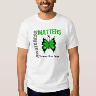 Awareness Matters Butterfly Traumatic Brain Injury Tee Shirt