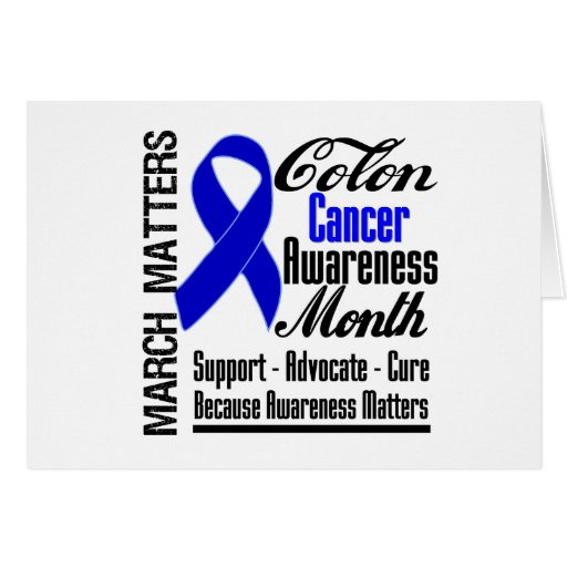 Awareness Matters Colon Cancer Month Card