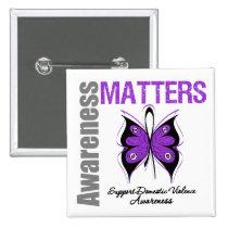 Awareness Matters Domestic Violence 2 Inch Square Button