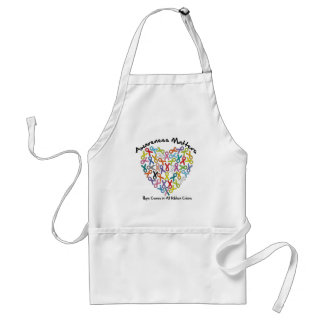 Awareness Matters Hope Comes In All Ribbon Colors Adult Apron