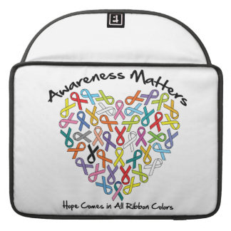 Awareness Matters Hope Comes In All Ribbon Colors Sleeves For MacBook Pro