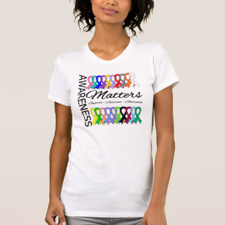 Awareness Matters Ribbons Of Cancer T-shirts
