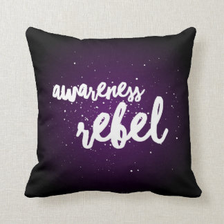 Awareness Rebel! Throw Pillow