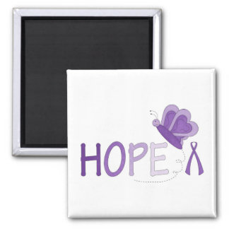 Awareness Ribbion & HOPE with butterfly magnet