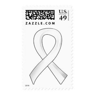 Awareness Ribbon 3 Emphysema Postage Stamp