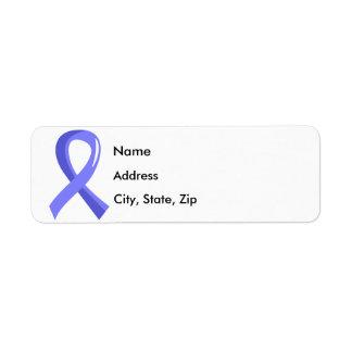 Awareness Ribbon 3 Lymphedema Return Address Label