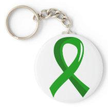 Awareness Ribbon 3 Traumatic Brain Injury TBI Basic Round Button Keychain