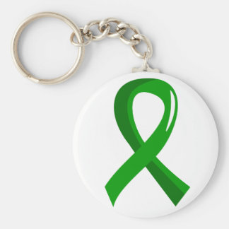 Awareness Ribbon 3 Traumatic Brain Injury TBI Keychain