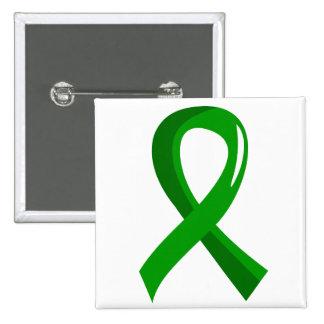 Awareness Ribbon 3 Traumatic Brain Injury TBI Pinback Button