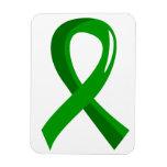 Awareness Ribbon 3 Traumatic Brain Injury TBI Flexible Magnets
