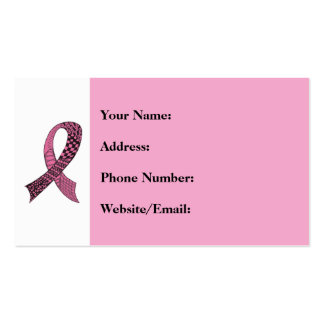 Awareness Ribbon Any Color Mix and Match Double-Sided Standard Business Cards (Pack Of 100)