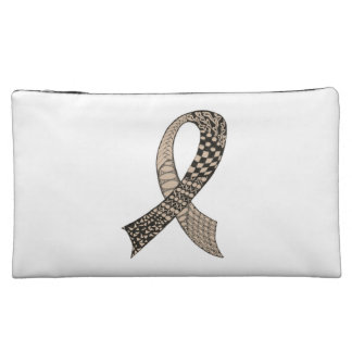 Awareness Ribbon Any Color Mix and Match Cosmetic Bag