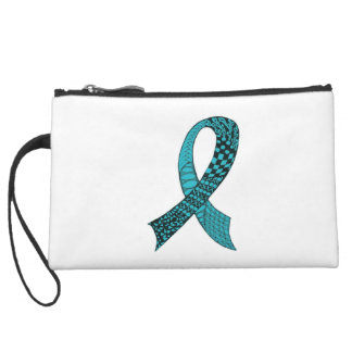 Awareness Ribbon Any Color Mix and Match Suede Wristlet