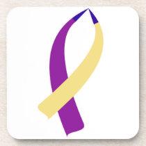 Awareness Ribbon (Bladder Cancer) Drink Coaster