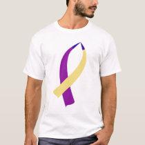 Awareness Ribbon (Bladder Cancer) T-Shirt
