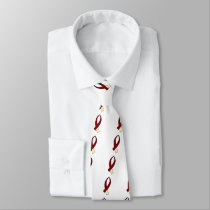 Awareness Ribbon (Burgundy & Cream) Tie