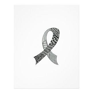 Awareness Ribbon Custom Colors Letterhead Design