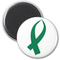 Awareness Ribbon (Green) Magnet