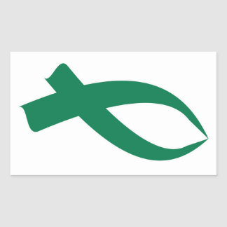 Awareness Ribbon (Green) Rectangular Sticker