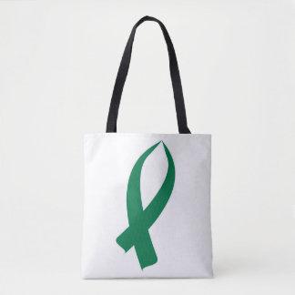 Awareness Ribbon (Green) Tote Bag